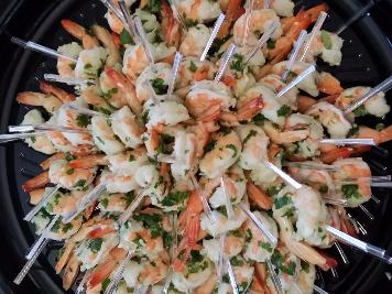 cilantro shrimp platter